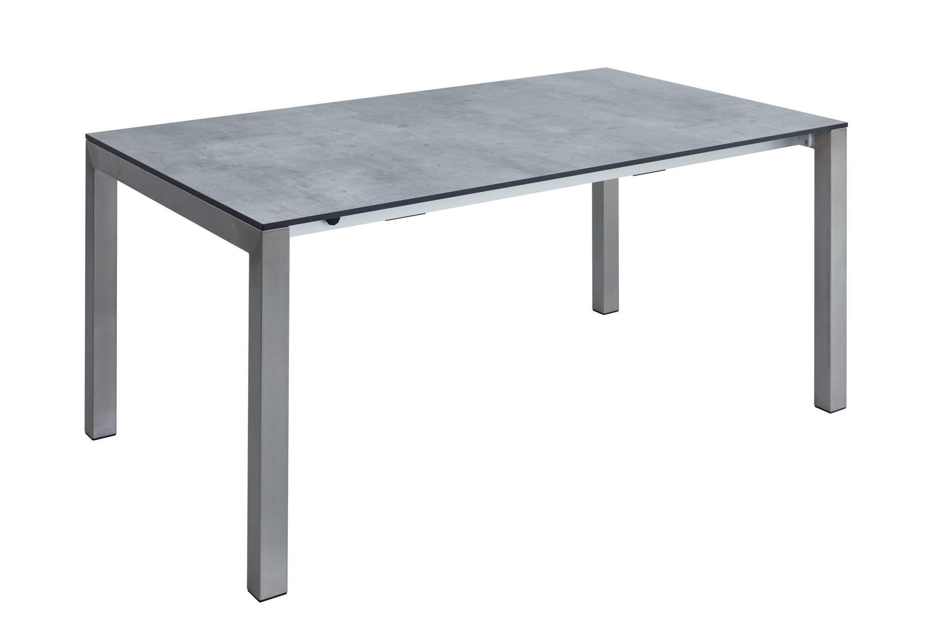 Gartentisch Kubus Tischplatte HPL Gestell Edelstahl