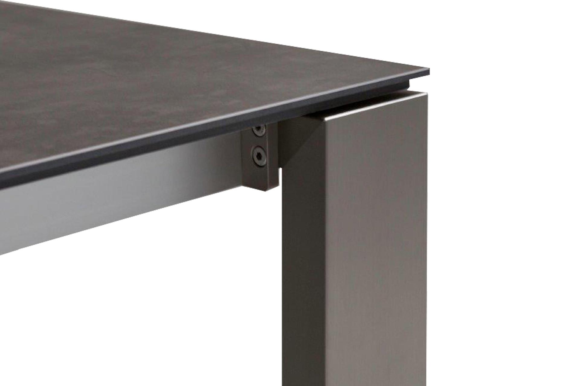 Designer Gartentisch Aluminium HPL Tischkante