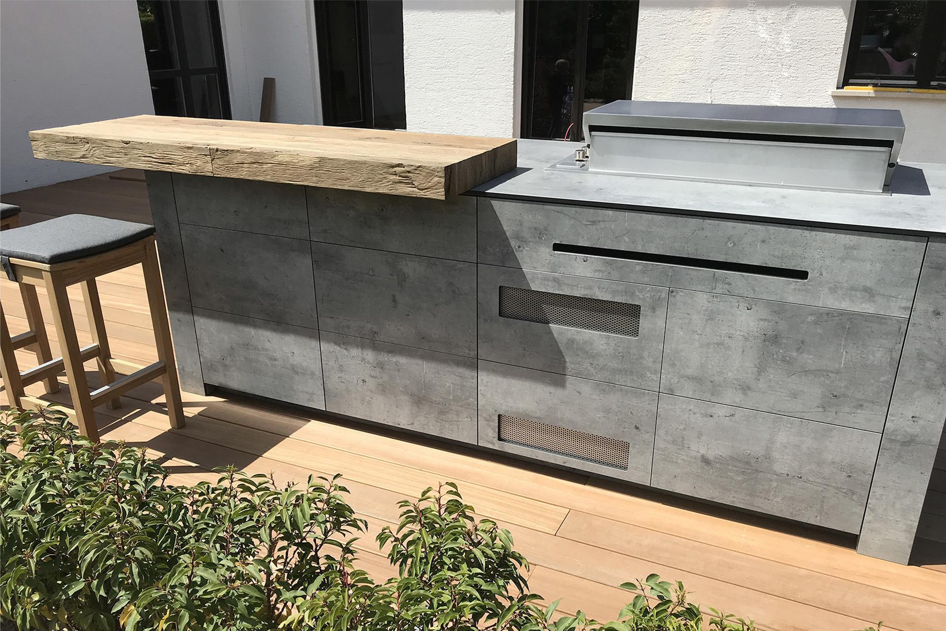 Bbqtion Outdoor Kitchen Island Solution For Wooden Terrace Village Garden