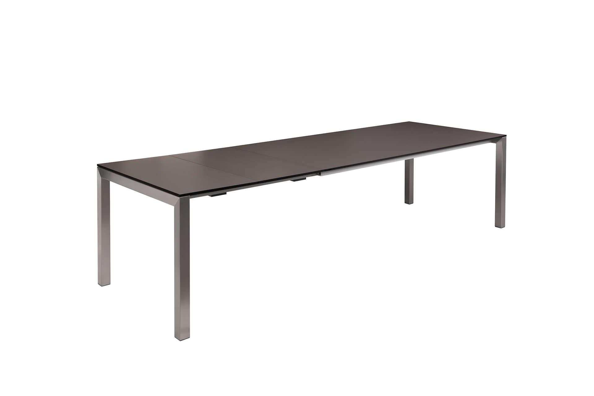 Gartentisch mit 2 Einlegeplatten HPL Anthrazit